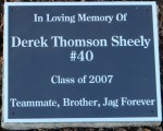 DEREK SHEELY DEDICATION CEREMONY